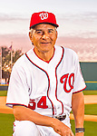28 February 2016: Washington Nationals Bullpen Coach Dan Firova poses for his Spring Training Photo-Day portrait at Space Coast Stadium in Viera, Florida. Mandatory Credit: Ed Wolfstein Photo *** RAW (NEF) Image File Available ***