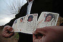 Iraq 2008.Commemoration of Halabja's chemical bombing, an inhabitant showing photos of victims  Irak 2008 Commemoration a Halabja du bombardment chimique de la ville, habitants montrant des photos des victimes