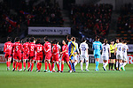 Two team groups, <br /> DECEMBER 11, 2017 - Football / Soccer : <br /> EAFF E-1 Football Championship 2017 Women's Final match <br /> between North Korea 1-0 South Korea <br /> at Fukuda Denshi Arena in Chiba, Japan. <br /> (Photo by Naoki Nishimura/AFLO)