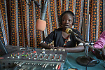 Toma Konyono broadcasts from the studio of Voice for Peace Radio in Gidel, a village in the Nuba Mountains of Sudan. The area is controlled by the Sudan People's Liberation Movement-North, and frequently attacked by the military of Sudan. The Catholic station broadcasts news and a variety of programming designed to foster reconciliation and peace.