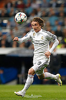 Real Madrid's Croatian midfielder Luca Modric