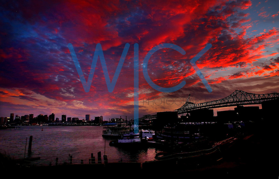 Boston skyline sunset as seen from the Chelsea, Massachusetts waterfront on 9/11/14. (Photo by Jared Wickerham/Wick Photography)