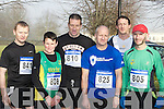 Seamus Murphy Gneeveguilla, Mary O'Connor Riocht, Tom Foley, Mattie Anglund Gneeveguilla, Jer O'Shea Iveragh and Billy O'Brien Riocht at the Gneeveguilla AC winter road race in Killarney on Saturday.