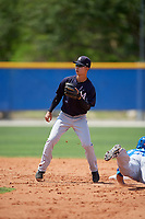 New York Yankees second baseman Hoy Jun Park (1) during a minor league Spring Training game against the Toronto Blue Jays on March 30, 2017 at the Englebert Complex in Dunedin, Florida.  (Mike Janes/Four Seam Images)
