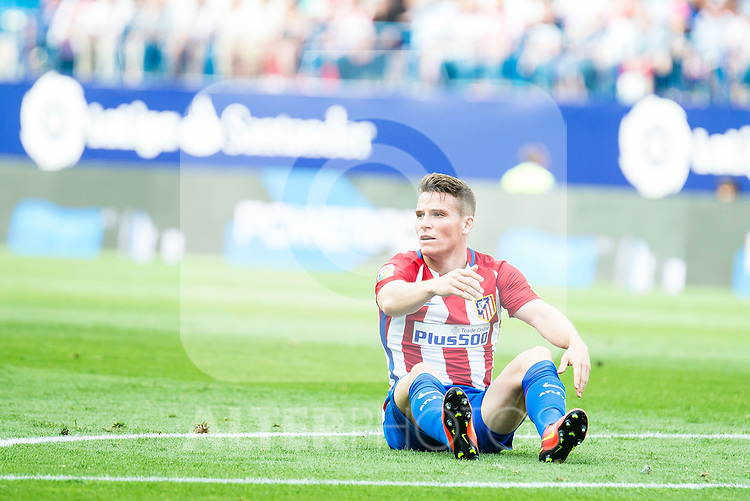 Atletico de Madrid's player Kevin Gameiro during a match of La Liga Santander at Vicente Calderon Stadium in Madrid. September 17, Spain. 2016. (ALTERPHOTOS/BorjaB.Hojas)