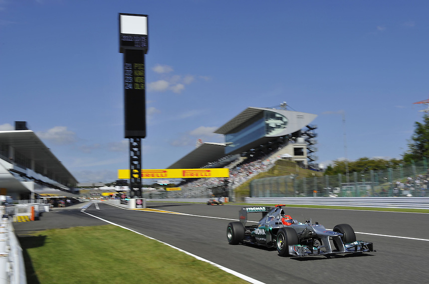 .Michael Schumacher (GER), Mercedes GP ..2012 FIA Formula One World Championship - Japanese Grand Prix - Suzuka Circuit - Suzuka - Japan - Friday 5th October 2012...
