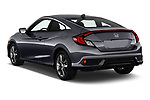 Car pictures of rear three quarter view of 2019 Honda Civic-Coupe EX 2 Door Coupe Angular Rear