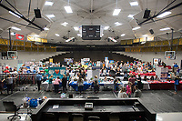 NWA Democrat-Gazette/J.T. WAMPLER The West Fork High School gym is packed with teachers and vendors Monday August 7, 2017 during the the Fayetteville Chamber of Commerce's fifth annual Washington County Education Expo with the Lincoln, Prairie Grove and Farmington chambers of commerce at the West Fork High School. More than 1200 educators were invited to attend from the Elkins, Lincoln, Prairie Grove, Greenland, Farmington and West Fork school districts.