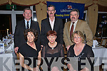 LIFEBOAT DINNER: Attending the fundraising dinner for Fenit Lifeboat in the Tankard Restaurant, Fenit on Saturday night were front l-r: Kristi Spring, Kathleen Brick and Susan O'Connor. Back l-r: JP Brick, Dick Spring and Peter O'Connor.