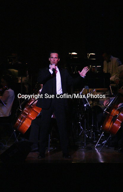 Hugh Panaro performs Jerry Herman's Broadway with the National Symphony Orchestra at The John F. Kennedy Center for Performing Arts on March 14, 2009, in Washington D.C. (Photo by Sue Coflin/Max Photos)