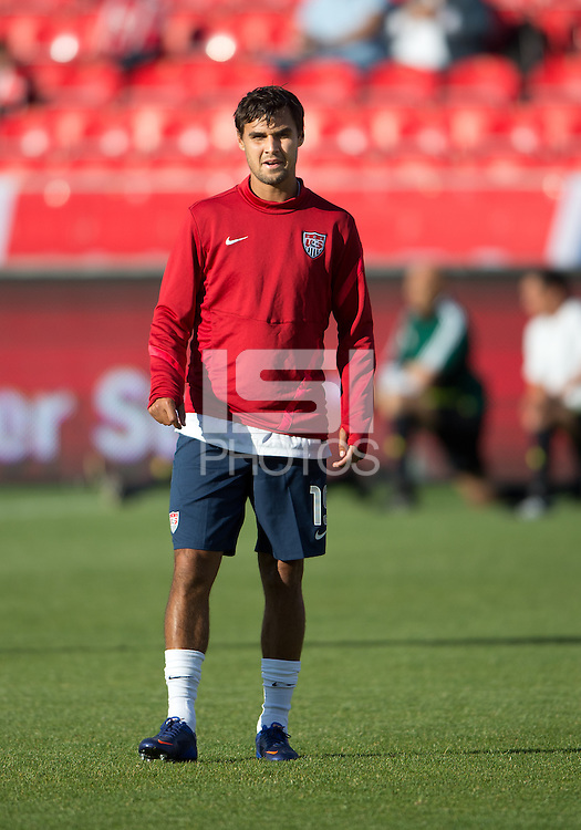 03 June 2012: US Men's National Soccer Team forward Chris Wondolowski #19 in action during the warm-up in an international friendly  match between the United States Men's National Soccer Team and the Canadian Men's National Soccer Team at BMO Field in Toronto..The game ended in 0-0 draw..