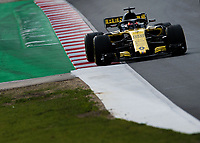 CARLOS SAINZ (ESP) of Renault Sport Formula One Team during Day 2 of the 2018 Formula 1 Testing at the Circuit de Catalunya, Barcelona. on 27 February 2018. Photo by Vince  Mignott.