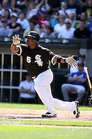 August 15 2008:  Third baseman Juan Uribe of the Chicago White Sox during a game at U.S. Cellular Field in Chicago, IL.  Photo by:  Mike Janes/Four Seam Images