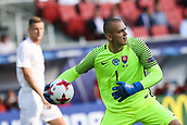 June 19th 2017, Kielce, Poland; UEFA European U-21 football championships, England versus Slovakia; Adrian Chovan (SLO)  throws the ball back into play