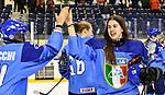 07.01.2020, BLZ Arena, Füssen / Fuessen, GER, IIHF Ice Hockey U18 Women's World Championship DIV I Group A, <br /> Italien (ITA) vs Daenemark (DEN), <br /> im Bild Jubel nach Spielende Aurora Abatangelo (ITA, #10)<br /> <br /> Foto © nordphoto / Hafner