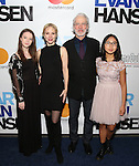 Charlotte d'Amboise and Terrence Mann and family attends the Broadway Opening Night Performance of 'Dear Evan Hansen'  at The Music Box Theatre on December 4, 2016 in New York City.
