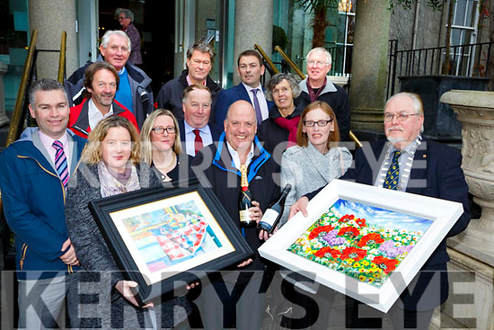 Eduard Schmidt Zorner launched the Killarney Rotary club 2017 Art and Win night fundraiser which will be held in the Malton Hotel on the 30th November  in aid of Local chrities and Community Projects front row l-r: Amelia Tucker, Liam Healy, Jane O'Donoghue, Eduard Schmidt Zorner. Middle row: Denis Tucker,John O'sullivan, Ciara Irwin Foley, Paul Sherry, Grace O'Neill Back row: John Shanahan, Gert Maes Tim Horgan, Charles Diece