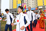 (L-R) Shogo Takeda, Kohei Yamamoto (JPN), <br /> AUGUST 16, 2018 : Welcome Ceremony for the Japanese delegation at Athlete's Village during the 2018 Jakarta Palembang Asian Games in Jakarta, Indonesia. (Photo by MATSUO.K/AFLO SPORT)