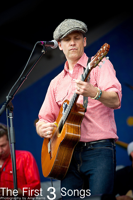 Joey Burns of Calexico performs during the New Orleans Jazz & Heritage Festival in New Orleans, LA.