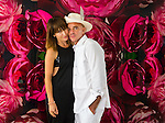 Developer Alan Faena with Ximena Caminos at home on Miami Beach.