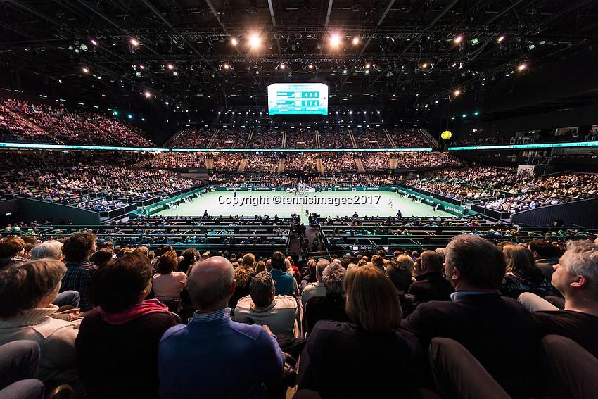 ABN AMRO World Tennis Tournament, Rotterdam, The Netherlands, 17 Februari, 2017, Grigor Dimitrov (BUL), David Goffin (BEL)<br /> Photo: Henk Koster