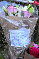 "Pictured: Flowers left at the house where the body of Terri-Anne Jones was discovered in Cimla, Neath, Wales.<br /> Re: John Paul Lewis who stabbed his girlfriend Terrie-Ann Jones 26 times and then went to the pub has been jailed for life for her murder.<br /> 55 year old Lewis, left the mother of two, 33 year old Terrie-Ann Jones, in a pool of blood after the attack in her home in Cimla, south Wales, on 5 January 2018.<br /> He then took money from her purse, changed his clothes and went to the pub, Swansea Crown Court was told.<br /> Lewis, who initially claimed he was acting in self-defence, must serve a minimum of 19 years.<br /> He had pleaded not guilty to murder but was convicted by a jury.<br /> Ms Jones's family said in a statement after the verdict : ""Everyone that knew her loved her and we cannot tell you how much we are missing her.<br /> ""Her passing has forever changed the lives of her daughter and little boy, who at nine years old doesn't understand why his mummy isn't here to play with him any more."""