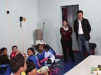 SAO PAULO, 09 DE AGOSTO DE 2012. CAMPANHA GABRIEL CHALITA. O candidato do PMDB a prefeitura de São Paulo, Gabriel Chalita, visita a  Associação Crescer Sempre na manhã desta quinta  feira. FOTO: ADRIANA SPACA - BRAZIL PHOTO PRESS