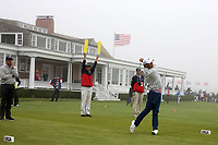 Beyond Hun An (KOR) tees off on the 14th hole during the Wednesday practice round of the 118th U.S. Open Championship at Shinnecock Hills Golf Club in Southampton, NY, USA. 13th June 2018.<br /> Picture: Golffile | Brian Spurlock<br /> <br /> <br /> All photo usage must carry mandatory copyright credit (&copy; Golffile | Brian Spurlock)