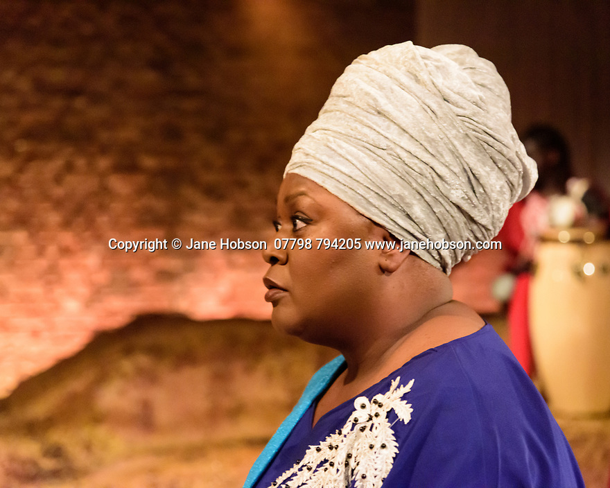The Bush Theatre & Birmingham Repertory Theatre present the debut play by Temi Wilkey, at the Bush Theatre. Directed by Daniel Bailey, with lighting design by Jose Tevar, set & costume design by Natasha Jenkins, and movement direction by Gabrielle Nimmo. Picture shows: Jumoke Fashola (as Yetunde).
