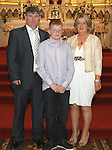 Mikie Gormally with Harry Reilly and Mary Gormally at Congress Avenue and Fatima Confirmation in St.Mary's Church...(Photo credit should read Jenny Matthews www.newsfile.ie)....This Picture has been sent you under the conditions enclosed by:.Newsfile Ltd..The Studio,.Millmount Abbey,.Drogheda,.Co Meath..Ireland..Tel: +353(0)41-9871240.Fax: +353(0)41-9871260.GSM: +353(0)86-2500958.email: pictures@newsfile.ie.www.newsfile.ie.