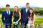 Aaron Malik, Laura Donnelly, Lee Courtney and Linda O'Connor attending the Presentation Tralee Debs in the Ballyroe Hotel on Tuesday.