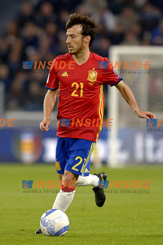 David Silva Spain,<br /> Torino 06-10-2016 Juventus Stadium <br /> World Cup Qualifiers Italy - Spain / Italia - Spagna. Foto Filippo Alfero / Insidefoto