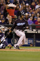 May 19, 2010: Toronto Blue Jays' Fred Lewis (15) at-bat during a game against the Seattle Mariners at Safeco Field in Seattle, Washington.