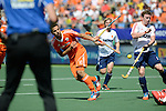 The Hague, Netherlands, June 13: Valentin Verga #10 of The Netherlands tries to score during the field hockey semi-final match (Men) between The Netherlands and England on June 13, 2014 during the World Cup 2014 at Kyocera Stadium in The Hague, Netherlands. Final score 1-0 (1-0)  (Photo by Dirk Markgraf / www.265-images.com) *** Local caption ***