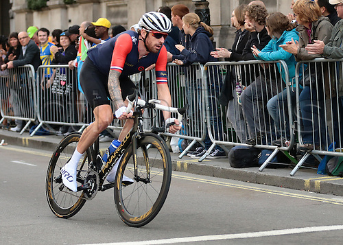 13.09.2015. London, England. Tour of Britain Stage Eight. London Finish. Sir Bradley Wiggins of Team Wiggins
