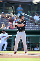 Michael Gettys (23) of the Lake Elsinore Storm bats against the Inland Empire 66ers at San Manuel Stadium on July 31, 2016 in San Bernardino, California. Inland Empire defeated Lake Elsinore, 8-7. (Larry Goren/Four Seam Images)