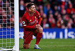 Roberto Firmino of Liverpool reacts to not scoring during the Premier League match at Anfield, Liverpool. Picture date: 1st February 2020. Picture credit should read: James Wilson/Sportimage