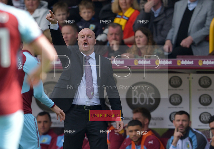 14/04/2018 Premier League Burnley v Leicester City<br /> <br /> Sean Dyche