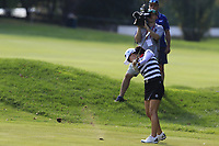 Minjee Lee (AUS) plays her 2nd shot on the 12th hole during Friday's Round 2 of The Evian Championship 2018, held at the Evian Resort Golf Club, Evian-les-Bains, France. 14th September 2018.<br /> Picture: Eoin Clarke | Golffile<br /> <br /> <br /> All photos usage must carry mandatory copyright credit (&copy; Golffile | Eoin Clarke)