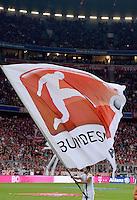 Fussball  1. Bundesliga  Saison 2013/2014   1. SPIELTAG FC Bayern Muenchen - Borussia Moenchengladbach       09.08.2013 DFL-Bundesliga Fahne in der Allianz Arena