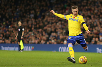 Leeds United's Barry Douglas aims a cross into the West Bromwich Albion box<br /> <br /> Photographer David Shipman/CameraSport<br /> <br /> The EFL Sky Bet Championship - West Bromwich Albion v Leeds United - Saturday 10th November 2018 - The Hawthorns - West Bromwich<br /> <br /> World Copyright &copy; 2018 CameraSport. All rights reserved. 43 Linden Ave. Countesthorpe. Leicester. England. LE8 5PG - Tel: +44 (0) 116 277 4147 - admin@camerasport.com - www.camerasport.com