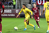 September 8th 2017, Stade Saint-Symphorien, Metz, France; French League 1 football, Metz versus Paris St Germain;  NEYMAR JR (psg) breaks away from Roux (metz)