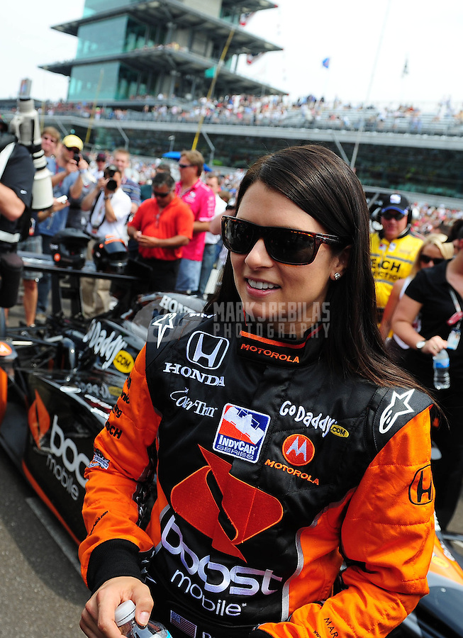 May 24, 2009; Indianapolis, IN, USA; IRL driver Danica Patrick during the 93rd running of the Indianapolis 500 at Indianapolis Motor Speedway.  Mandatory Credit: Mark J. Rebilas-