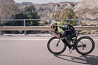a tucked-in Celab Ewan (AUS/Michelton-Scott)<br /> <br /> Michelton-Scott training camp in Almeria, Spain<br /> february 2018
