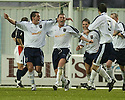 27/11/2004  Copyright Pic : James Stewart.File Name : jspa02_falkirk_v_ross_county.STEVEN MCGARRY (CENTRE)  CELEBRATES SCORING ROSS COUNTY'S FIRST.....Payments to :.James Stewart Photo Agency 19 Carronlea Drive, Falkirk. FK2 8DN      Vat Reg No. 607 6932 25.Office     : +44 (0)1324 570906     .Mobile   : +44 (0)7721 416997.Fax         : +44 (0)1324 570906.E-mail  :  jim@jspa.co.uk.If you require further information then contact Jim Stewart on any of the numbers above.........