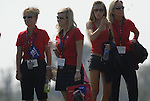 USA Team WAGs on the 1st tee during the Singles on the Final Day of the Ryder Cup at Valhalla Golf Club, Louisville, Kentucky, USA, 21st September 2008 (Photo by Eoin Clarke/GOLFFILE)