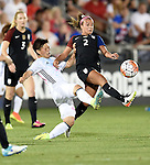 Kumi Yokoyama (JPN), Mallory Pugh (USA), JUNE 2, 2016 - Football / Soccer : Women's International Friendly match between United States 3-3 Japan at Dick's Sporting Goods Park in Commerce City, Colorado, United States. (Photo by AFLO)