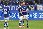 16.03.2019, VELTINS-Arena, Gelsenkirchen, GER, DFL, 1. BL, FC Schalke 04 vs RB Leipzig, DFL regulations prohibit any use of photographs as image sequences and/or quasi-video<br /> <br /> im Bild v.l. unzufrieden / enttaeuscht / niedergeschlagen / frustriert, Steven Skrzybski (#22, FC Schalke 04) Benjamin Stambouli (#17, FC Schalke 04) Matija Nastasic (#5, FC Schalke 04)<br /> <br /> Foto © nph/Mauelshagen