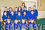 FIRSTDAY: Enjoying their firsty day at Lisselton NS on Tuesday were junior Infants. with their teacher. Front l-r: Jack Sheehy, Jamie Keane, Matthew Doherty and Cillian Fawley. Seated l-r: Emma Kennelly, Katie Hannon, mairead Barry, Abigail O'Neill and Ava Barrett. Back l-r: Dylan Barry, Lucy O'Connor, Darragh Scanlon, Aoife Scanlon, Finola Fogarty (teacher) Ryan Easton,Iseult Long and Michael Gill.... ....