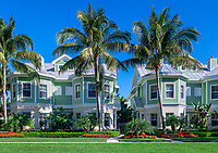 Upscale beach homes, Naples, Florida, USA.